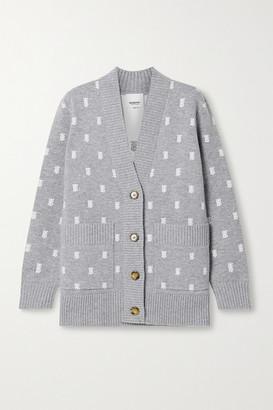 Burberry Jacquard-knit Cardigan - Gray