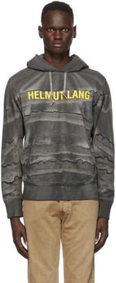 Helmut Lang Grey Marble Dye Standard Hoodie