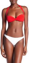 Norma Kamali Shirred Halter Bikini Top