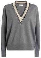 Sandro Paris Contrast Trim Sweater