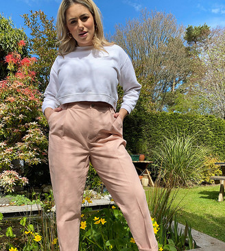 ASOS DESIGN Curve chino pants in pink