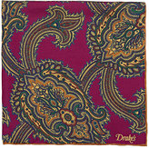 Drakes Drake's Men's Paisley Twill Pocket Square