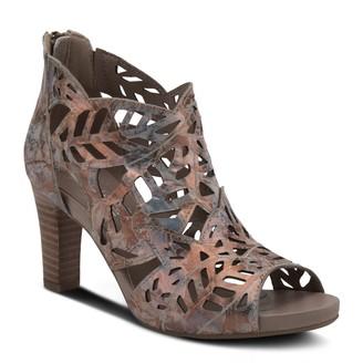 Spring Step L'Artiste By Leather Stacked Heel Sandals - Amora
