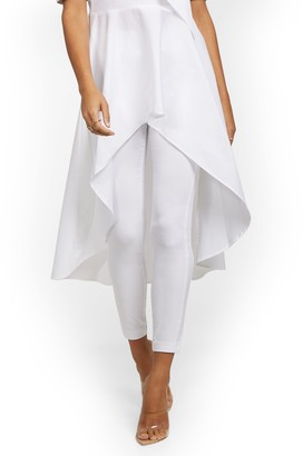 New York & Co. Tall Whitney High-Waisted Pull-On Slim-Leg Ankle Pant - White