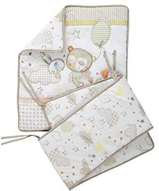 Clair De Lune Sleep Tight Crib/Cradle Quilt and Bumper Bedding Set