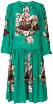 Dolce & Gabbana printed cat motif dress