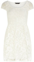 Dorothy Perkins Ivory short sleeve lace dress