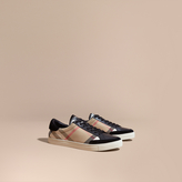 Burberry House Check and Leather Trainers