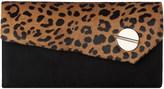 LK Bennett Fiona leopard-print clutch bag