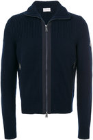 Moncler ribbed zip front cardigan