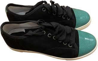Lanvin Navy Suede Trainers