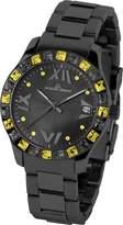 Jacques Lemans Rome Women's 37mm Black Steel Bracelet Crystals Watch 1-1517T