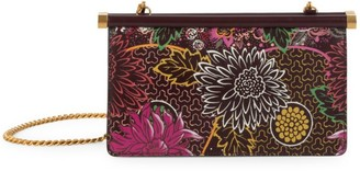 Valentino Carry Secrets Floral-Print Leather Clutch