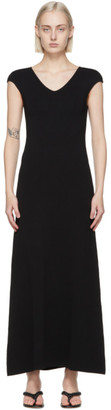Totême Black Cap Sleeve Dress