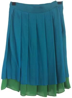 Ann Taylor Turquoise Silk Skirt for Women