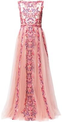 Tadashi Shoji Aina floral applique gown