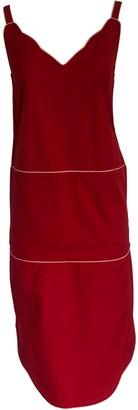 Onelady Colorful Midi Dress Red Drica