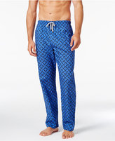 Michael Kors Men's Windowpane Plaid Logo Woven Pajama Pants