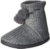 Isotoner Women's Shaker Knit Myrna Boot Slipper
