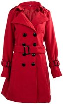 SODIAL(R) Women Trench Cashmere Slim Winter Warm Coat Long Wool Jacket Outwear With Belt Size s