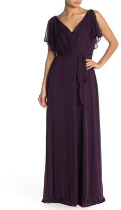 Onyx Nite Split Sleeve Belted Maxi Dress