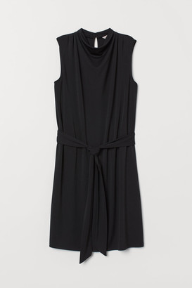 H&M Dress with Tie Belt - Black