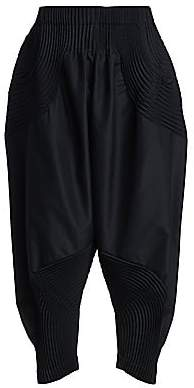 Issey Miyake Women's Comet Stretch Cropped Harem Pants