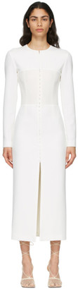 Dion Lee White Open Neck Bustier Dress