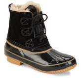 Khombu Faux Fur Lace-Up Boots
