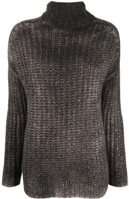 Avant Toi Faded-Effect Roll Neck Jumper