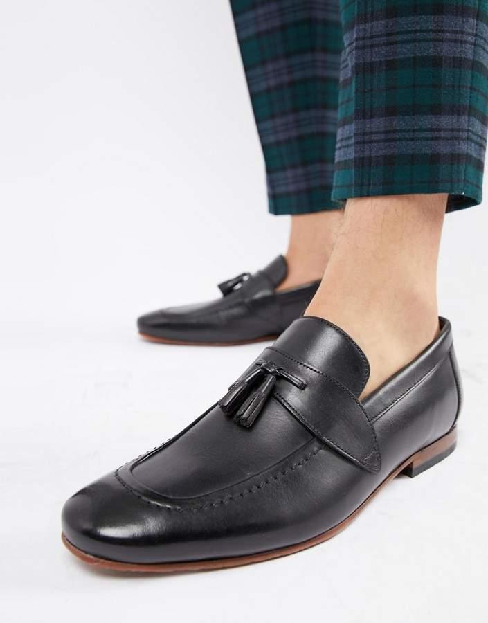 43c6c57793548 Grafit tassel loafers in black
