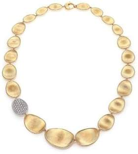 Marco Bicego Lunaria Diamond& 18K Yellow Gold Single-Station Collar Necklace