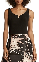 Halston Fitted Notched Top