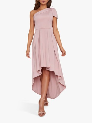 Chi Chi London Eilish High Low Hem Dress, Mink