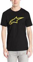 Alpinestars Men's Ageless Classic T-Shirt, Black/Yellow