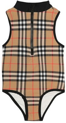 BURBERRY KIDS Check swimsuit