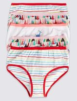 Marks and Spencer 5 Pack Pure Cotton Assorted Briefs (18 Months - 12 Years)