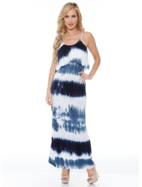 White Mark Women's Kaleatie Dye Overlay Maxi Dress