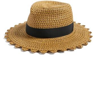 Eric Javits Squishee Cannes Scalloped Edge Hat