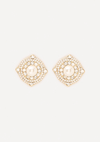 Bebe Sparkling Button Earrings