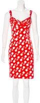L'Wren Scott Silk Abstract Print Dress