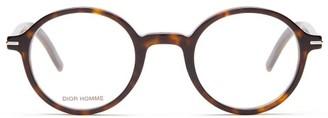 Christian Dior Sunglasses - Blacktie Round Tortoiseshell-acetate Glasses - Mens - Tortoiseshell