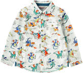 Cath Kidston Dragons Boys Long Sleeve Shirt