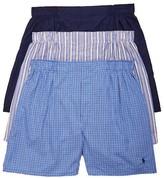 Polo Ralph Lauren Classic Fit Woven Cotton Boxers 3-Pack