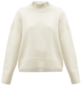 Brock Collection Pilota Funnel-neck Wool-blend Sweater - Womens - Cream