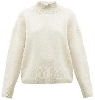 Brock Collection Pilota Funnel Neck Wool Blend Sweater - Womens - Cream
