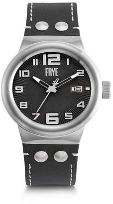 Frye Men's Harness Black Leather Strap Watch, 46mm
