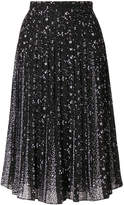 MICHAEL Michael Kors embroidered pleated skirt
