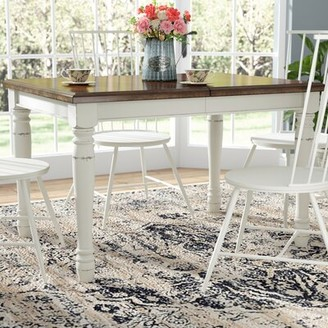 Laurel Foundry Modern Farmhouse Extendable Dining Table Color: White