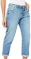 Miss Selfridge Seam Slim Fit Boyfriend Jeans, Mid Wash